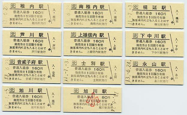 北海道の硬券きっぷ
